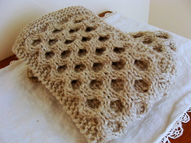 Honeycomb Scarf Knitting Pattern