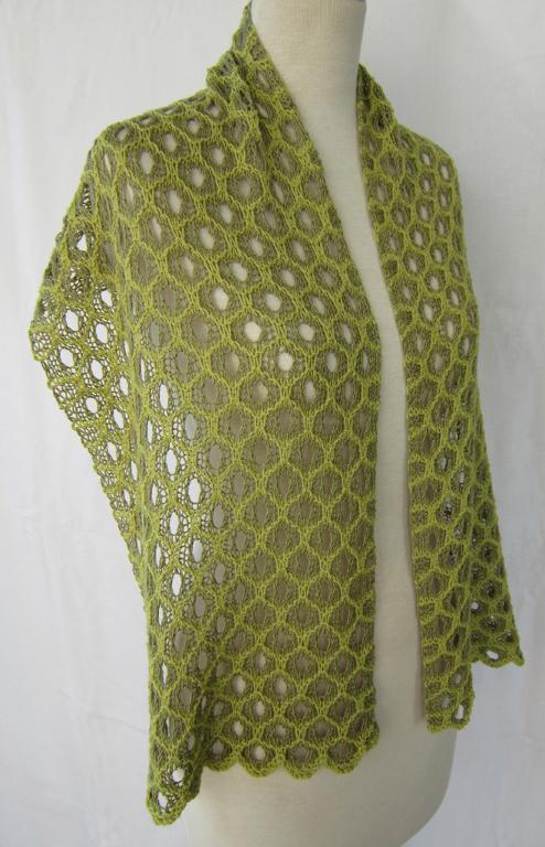 Honeycomb Shadow Lace Stole Knitting Pattern