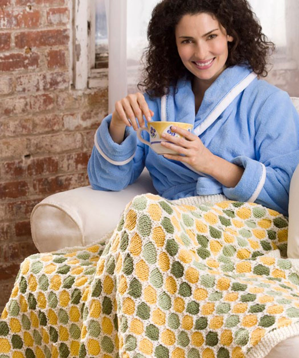 Honeycomb Throw Knitting Pattern Picture