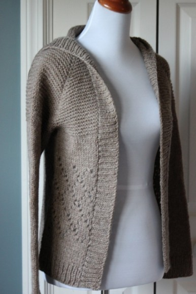 Photos of Hooded Cardigan Knitting Pattern