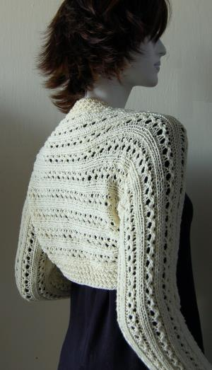 Knit Lace Rib Shrug Pattern
