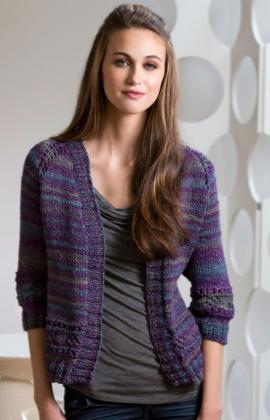 Moon Shadows Cardigan Knit Pattern