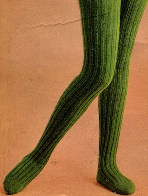 Retro Ribbed Tights Knit Leggings Pattern