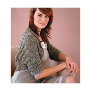 Rolled Collar Shrug Knitting Pattern