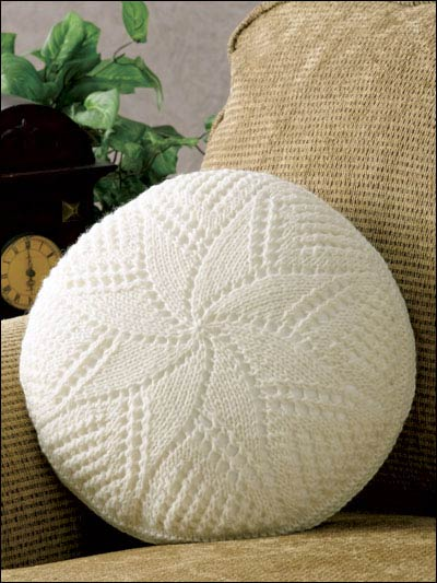 Spiral Star Pillow Knitting Pattern