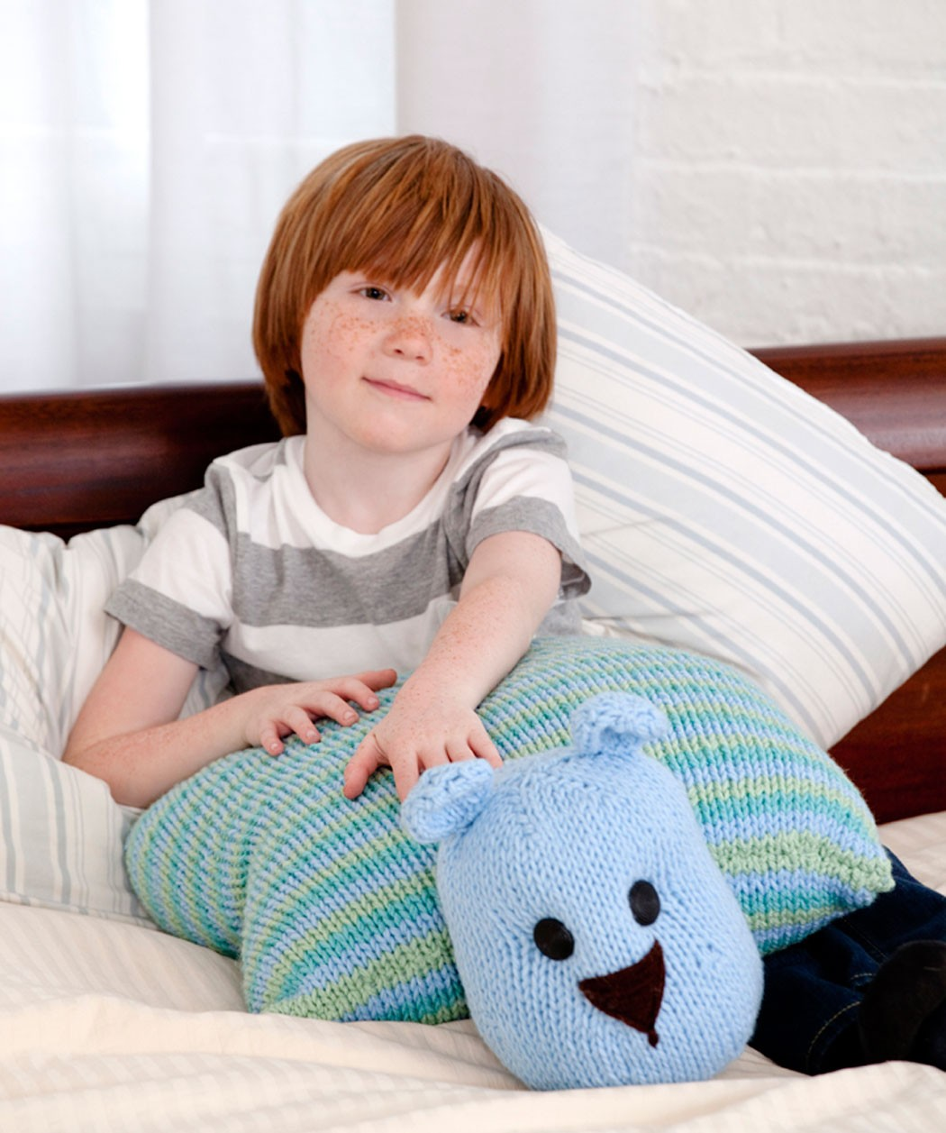 Teddy Bear Pillow Knitting Pattern
