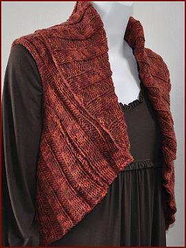 Twirl Woman Shrug Knitting Pattern