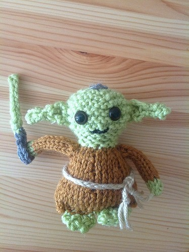 Yoda Doll Knitting Pattern