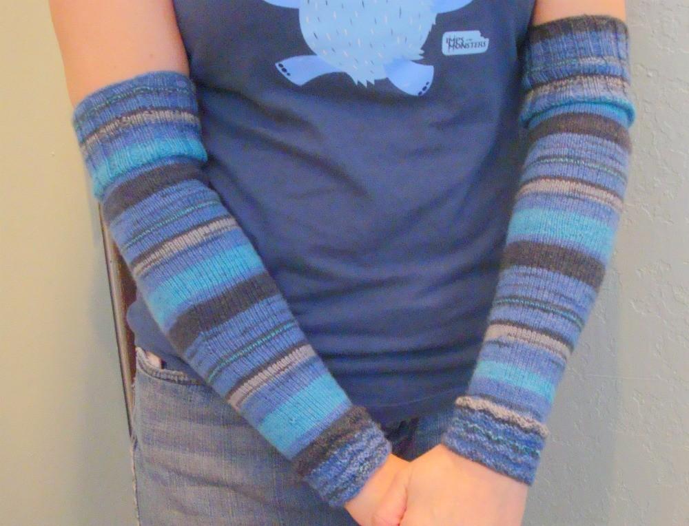 Arm Warmers Knitting Pattern Tutorial