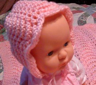 Baby Bonnet Blanket Knitting Pattern