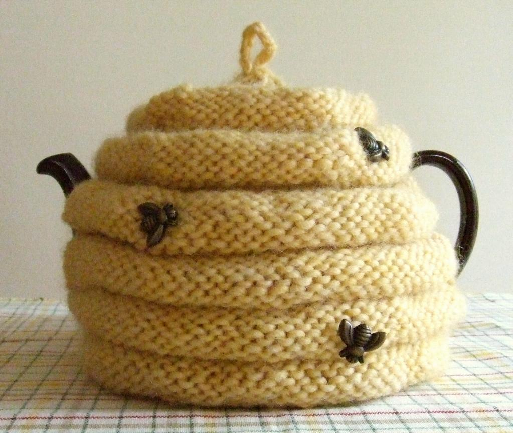 Beehive Tea Cozy Knitting Pattern