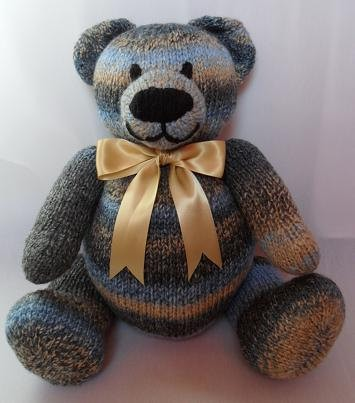 Big Berry Teddy Bear Knitting Pattern