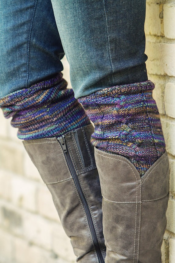 Boots Cuff Cabled Knitting Pattern