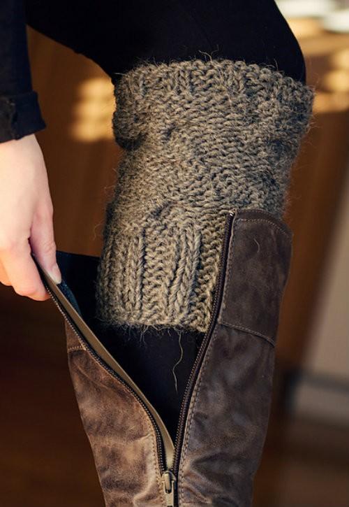 Candy Boot Cuffs Knitting Pattern