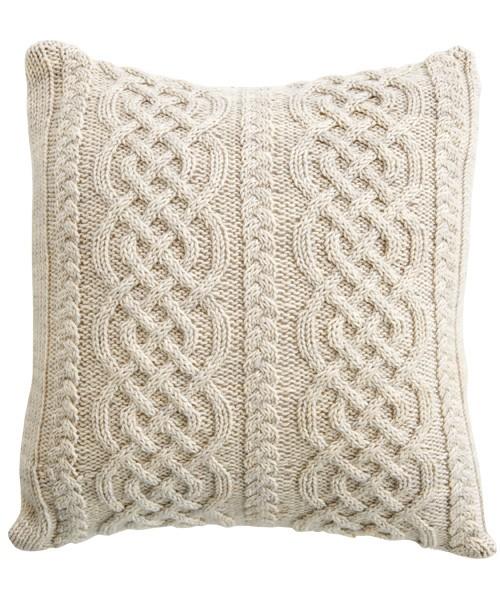 Celtic Aran Pillow Knitting Pattern