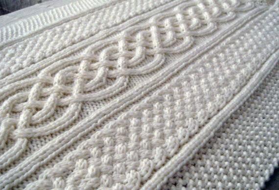 Celtic Blanket Knitting Pattern