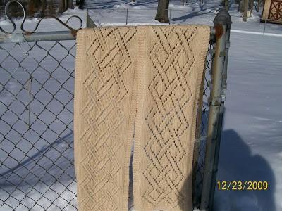 Celtic Knot Scarf Knitting Pattern