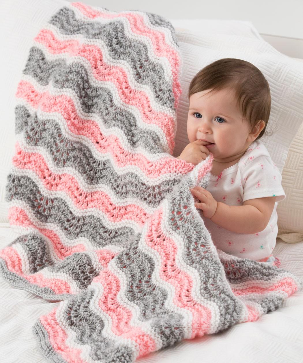 Chevron Blanket Quilt Knitting Pattern