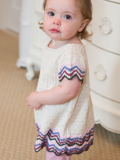 Chevron Empire Dress Knit Pattern