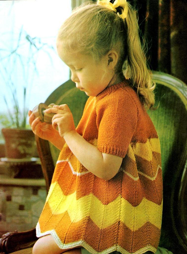 Chevron Little Girl Dress Pattern
