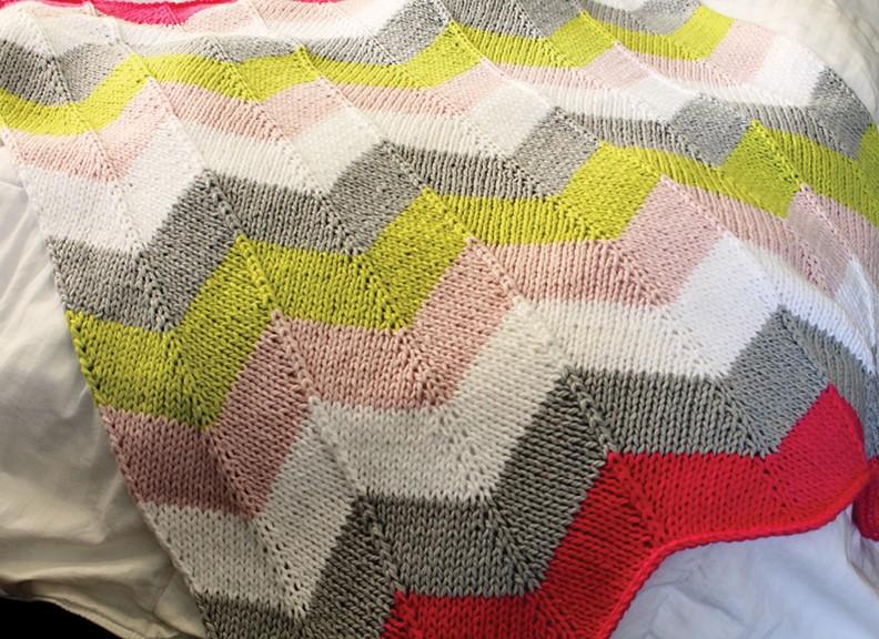Chevron Quilt Baby Blanket Pattern