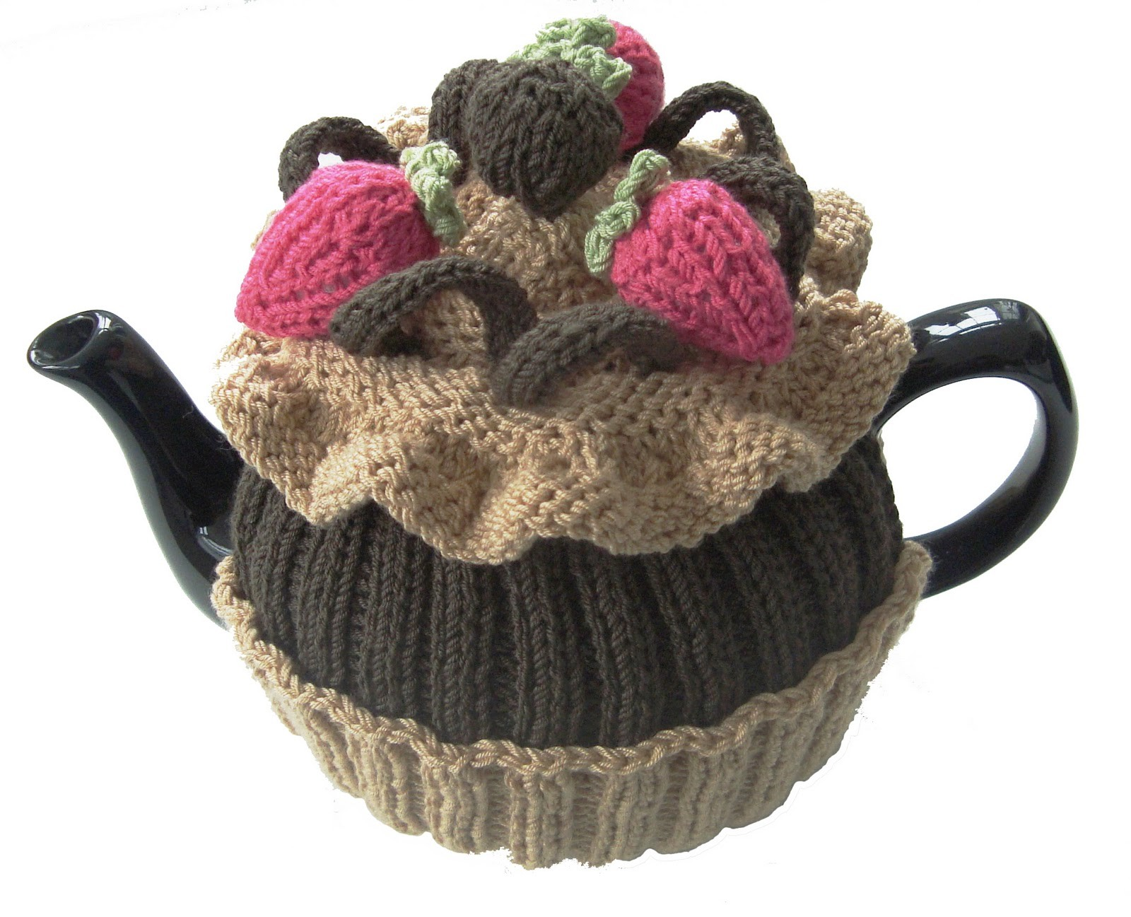 Chocolate Cupcake Tea Cosy Knitting Pattern