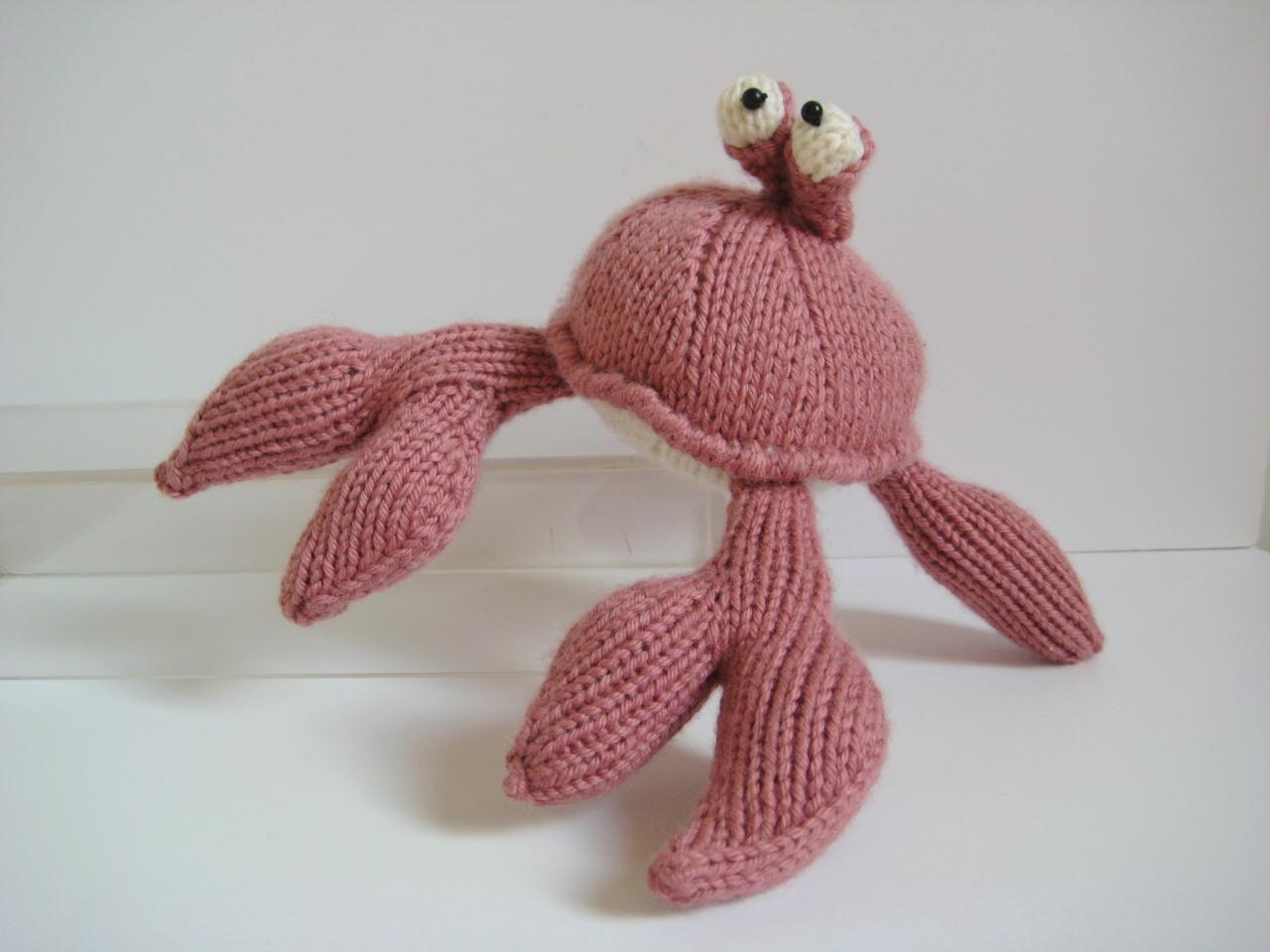 Crab Toy Knitting Pattern