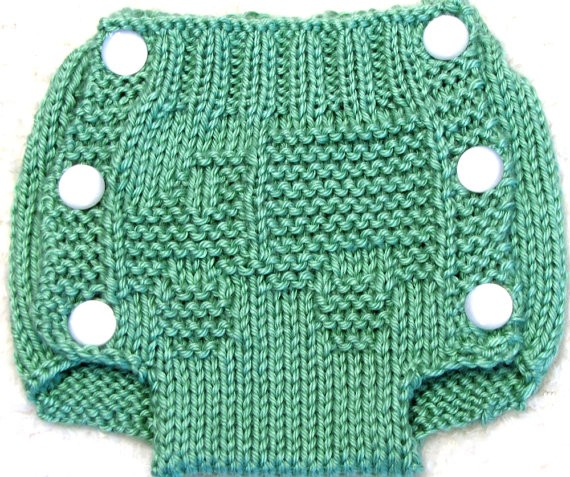Diaper Cover Knitted Pattern Tutorial