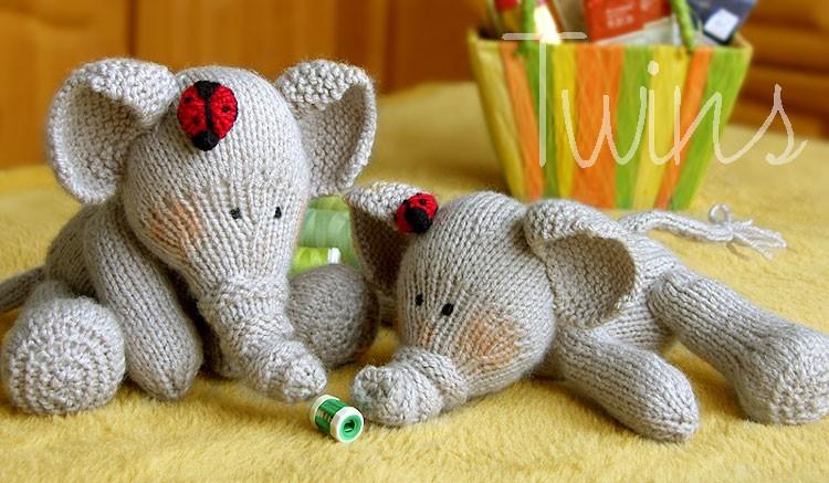 Elephants Knitting Pattern