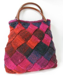 Entrelac Small Bag Knitted Pattern