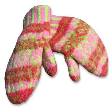 Felted Mittens Knitting Pattern