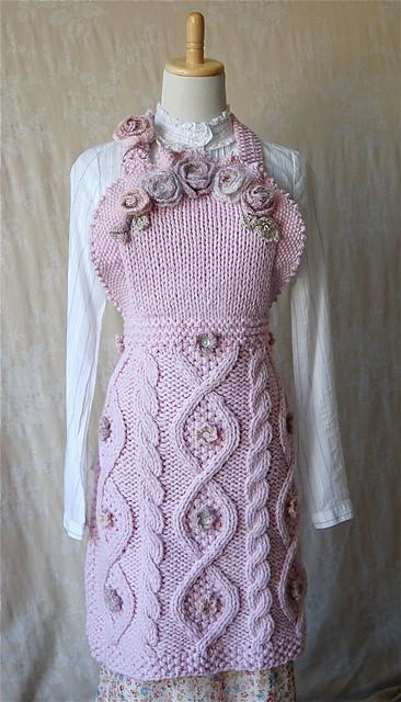 Fleur Apron Knitted Pattern