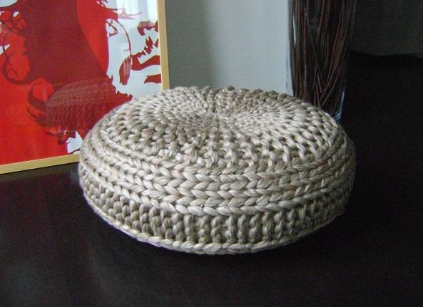 Floor Cushion Pouf Knitting Pattern