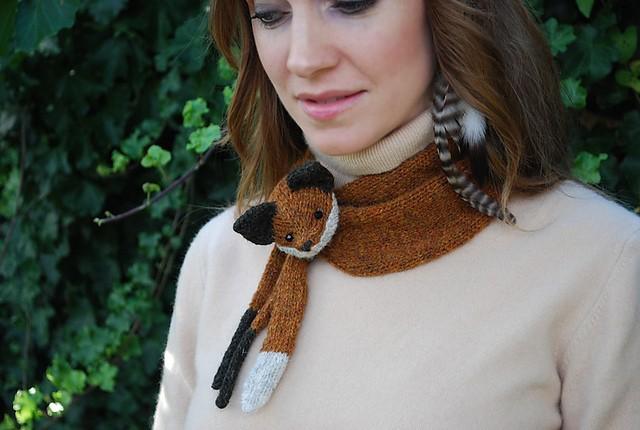Fox Scarf Knitting Pattern