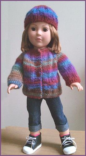 Free American Girl Doll Knit Pattern