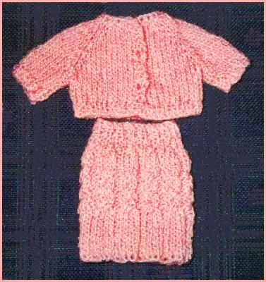 Free Barbie Doll Cardigan Sweater Knitting Pattern