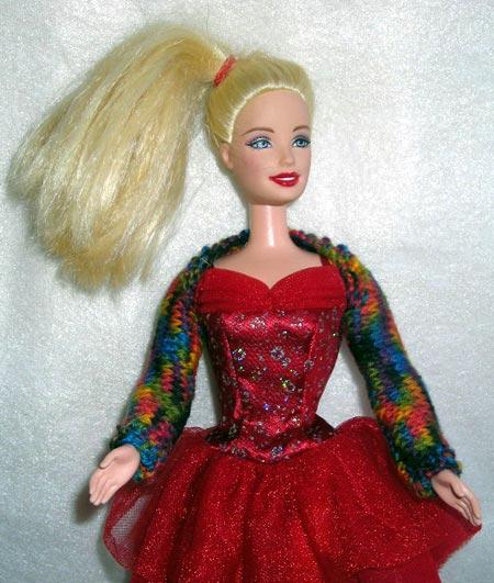 Free Barbie Doll Shrug Knitting Pattern