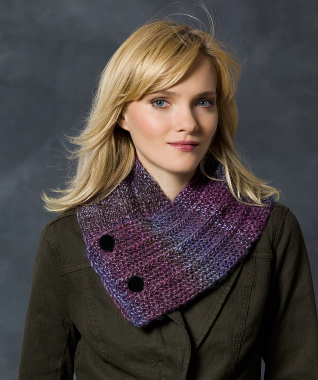 Free Button Up Neck Warmer Knitting Pattern