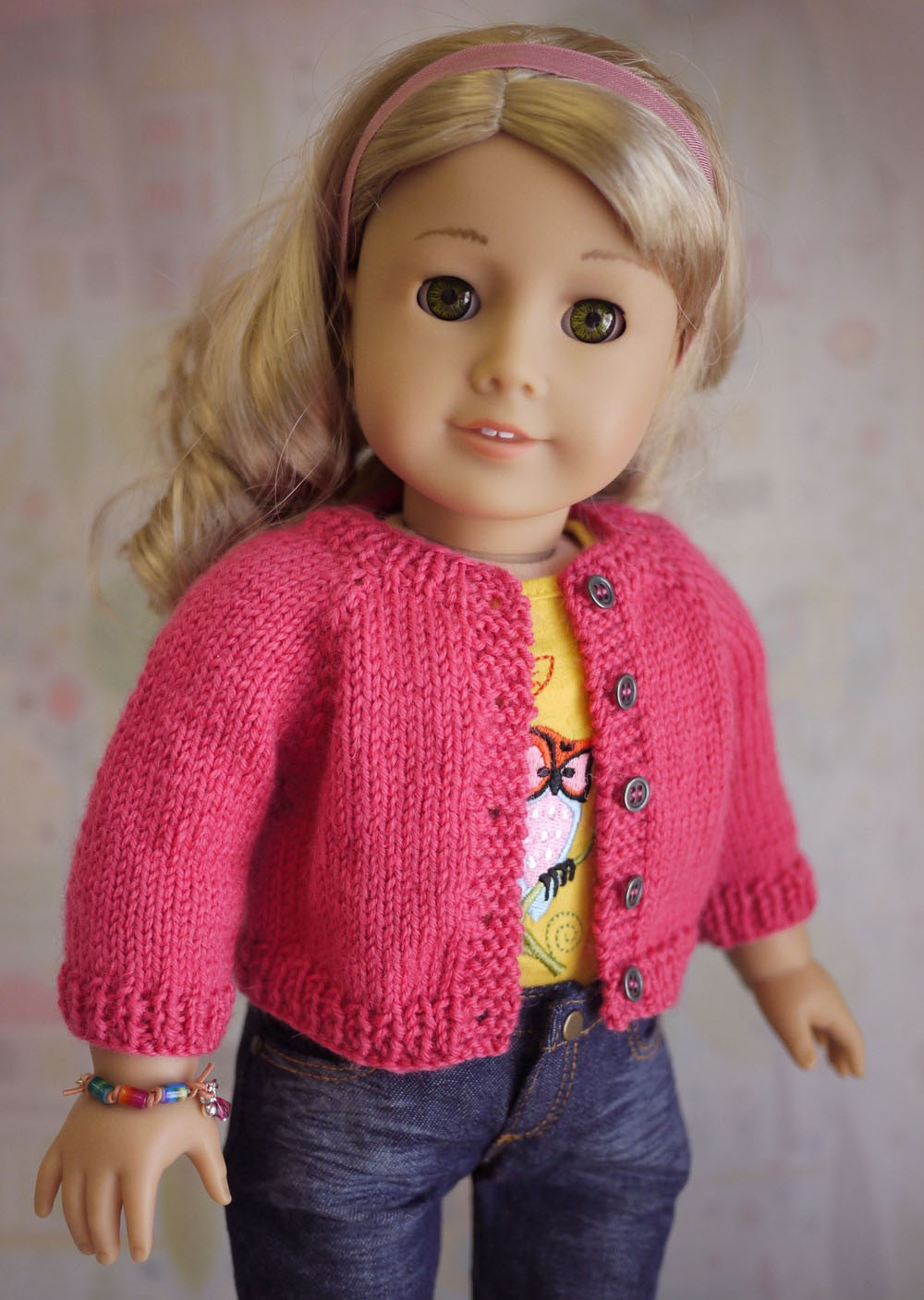 Free Cardigan Knitting Patterns for American Girl Dolls