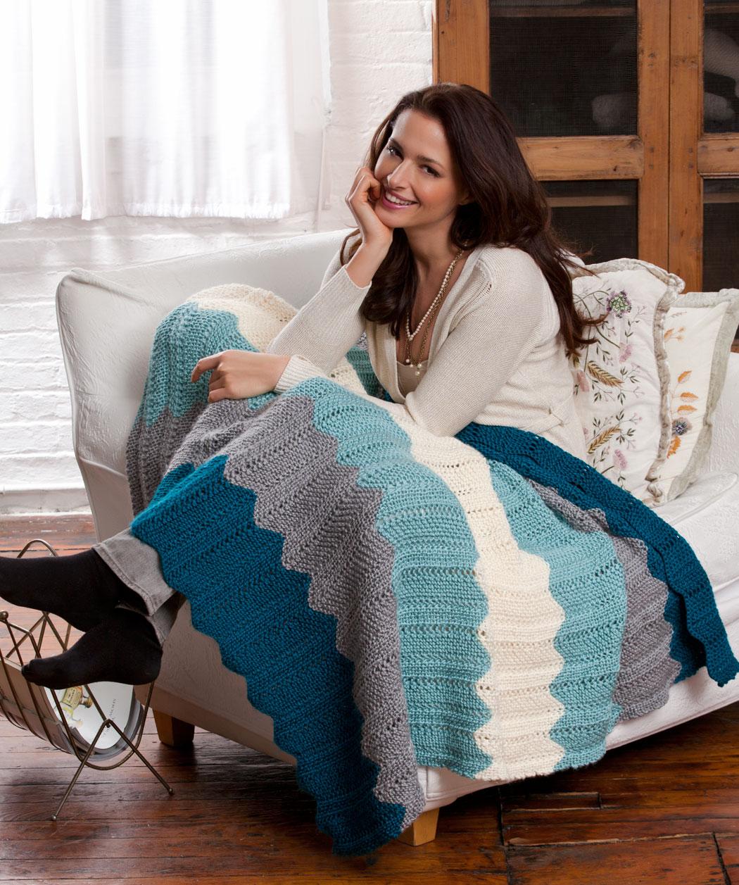 Free Chevron Quilt Knit Pattern