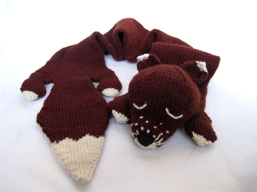 Free Knitted Fox Scarf Patterns