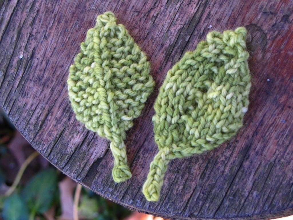 Free Knitted Leaf Patterns