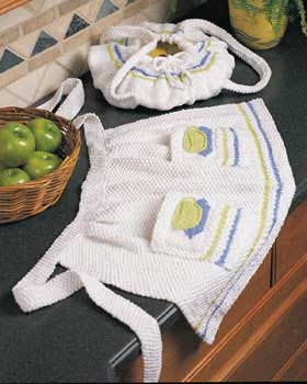 Free Teacup Half Apron Knitting Pattern