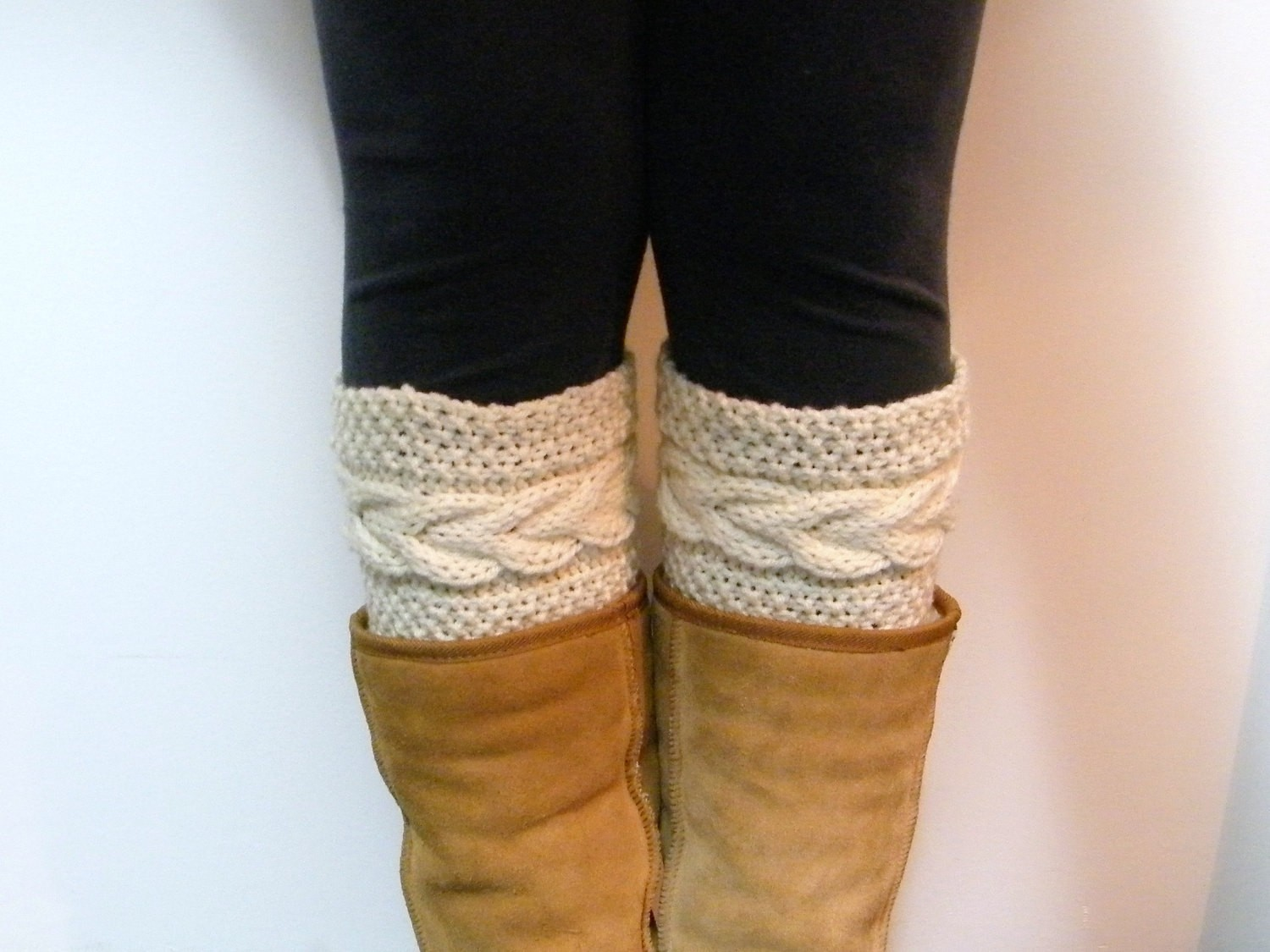 Grace Cable Boot Cuffs Knitting Pattern Image