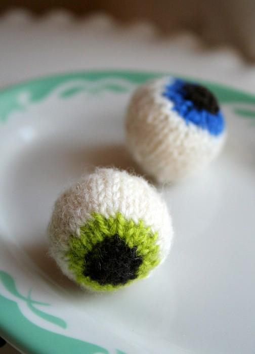 Halloween Eyeballs Knitted Patterns