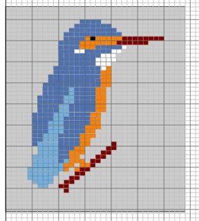 Kingfisher Intarsia Knitting Patterns