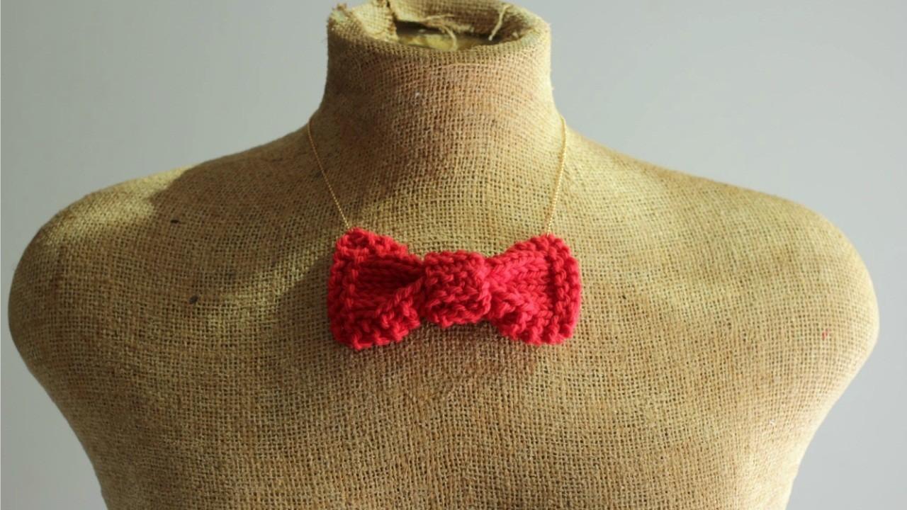 Knit Bow Necklace Tie Pattern