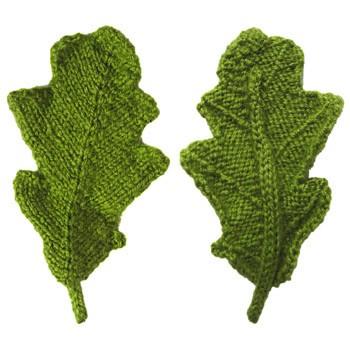 Knitted Oak Leaf Patterns