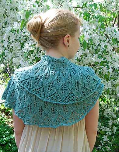 Pictures of Knitted Shawlette Pattern
