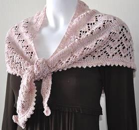 Lace Triangle Shawlette Knitting Pattern